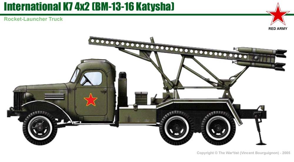 International K7 w/ BM-13-16 rocket-launcher